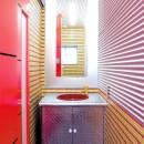 中華店舗付き住宅の改装:デザインリフォームの写真 店舗付き住宅の1階店舗の化粧室
