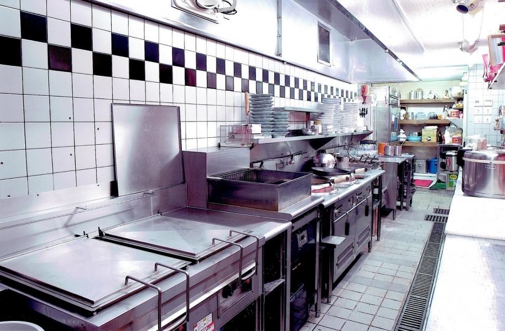 中華店舗付き住宅の改装:デザインリフォーム (店舗付き住宅の1階店舗ー厨房)