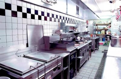店舗付き住宅の1階店舗ー厨房 (中華店舗付き住宅の改装:デザインリフォーム)