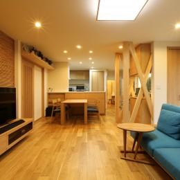 将来の夫婦二人の生活を見据えて、1階部分だけで暮らせる住まいにリフォーム。 (和室と廊下を繋げてひとつの空間にしたLDK。)