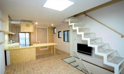 店舗(自然派日用品)付き住宅のリフォーム (リビング~ダイニングキッチン)