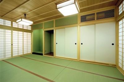 和室:仏間 (平屋に住まう:夫婦二人に ちょうどいいシンプルな住まい)