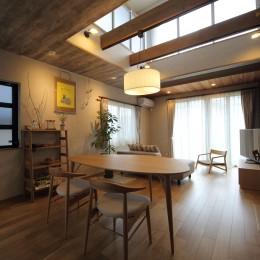 二世帯住宅を単世帯へ。明るく暖かいLDをはじめ、1階を中心にした快適な住まい。