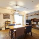 menue-思い出の家具を中心に、家族団らんを楽しめる住まいをの写真 リビングダイニング