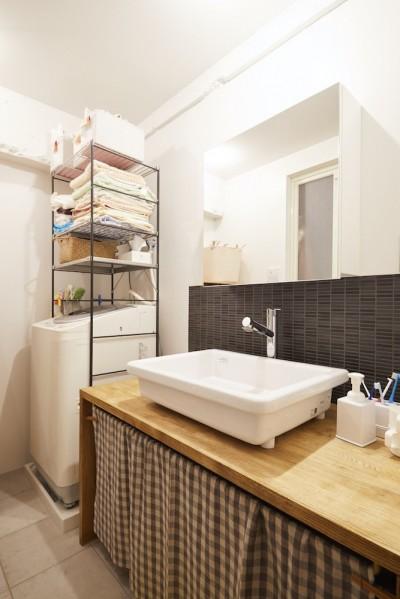 洗面所 (menue-思い出の家具を中心に、家族団らんを楽しめる住まいを)