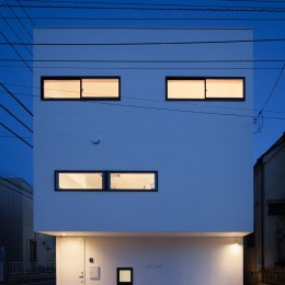 東玉川の住宅 (外観夜景)
