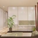 「石庭」のあるマンション リフォーム|大人の時間を楽しむ和モダンな家の写真 石庭