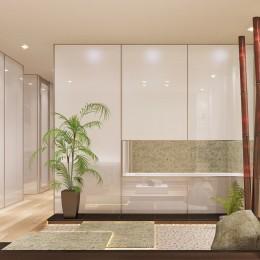 「石庭」のあるマンション リフォーム|大人の時間を楽しむ和モダンな家