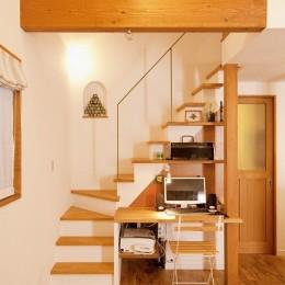 2世帯の集う場を手に入れた2階リビング (階段)