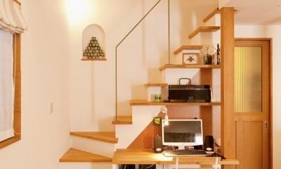 階段|2世帯の集う場を手に入れた2階リビング