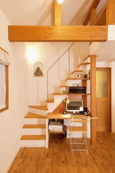 階段 (2世帯の集う場を手に入れた2階リビング)
