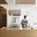 Licht-縁側に障子…今の暮らしに合わせた和の空間の写真 キッチン