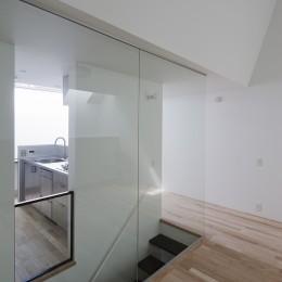 さいたまの旗竿敷地の家 OUCHI-21 (階段)