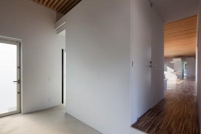 玄関 (羽鳥の平屋)