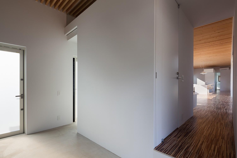 玄関事例:玄関(羽鳥の平屋)