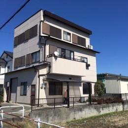 一宮市 M様邸 外壁塗装工事 屋根雨漏り対策 (外壁塗装工事 南側)