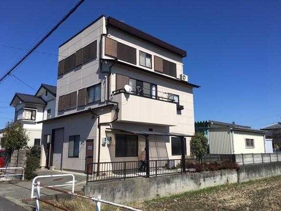 外観事例:外壁塗装工事 南側(一宮市 M様邸 外壁塗装工事 屋根雨漏り対策)