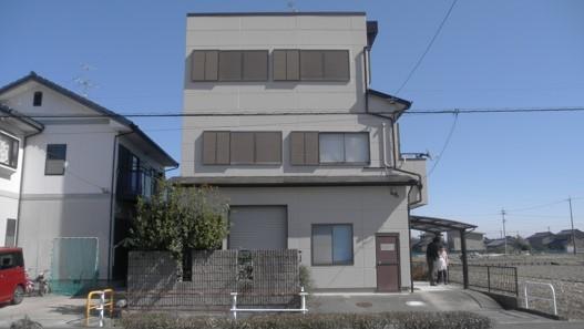 外観事例:外壁塗装工事 西側(一宮市 M様邸 外壁塗装工事 屋根雨漏り対策)