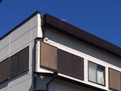 一宮市 M様邸 外壁塗装工事 屋根雨漏り対策 (外壁塗装工事 笠木部分)