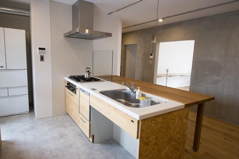 キッチン事例:キッチン(リノベーション 素朴さが自然と融合した空間)