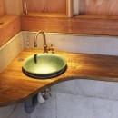 木造軸組み大スパンの家の写真 手造りローコスト手洗いカウンター
