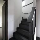 黒塗りの和モダンの写真 階段