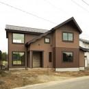 カンツリー倶楽部  「調整区域に建てた家」の写真 田んぼの方から見る