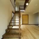 カンツリー倶楽部  「調整区域に建てた家」の写真 リビング階段