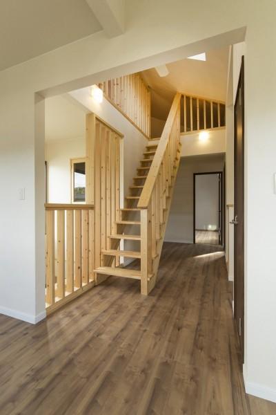 ロフトへ上がる固定階段 (ベイジン・ストリート・ブルース 「ジャズをこよなく愛するオーナーの家」)