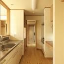 ナチュラルテイスト 高気密・高断熱の家の写真 対面キッチン