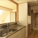 ナチュラルテイスト 高気密・高断熱の家の写真 キッチンから見る
