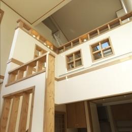 ナチュラルテイスト 高気密・高断熱の家 (階段室)