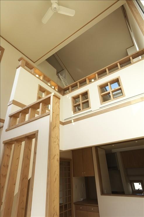 リビングダイニング事例:階段室(ナチュラルテイスト 高気密・高断熱の家)