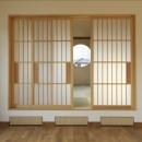 和楽3層住宅の写真 ダイニングから和室を見る