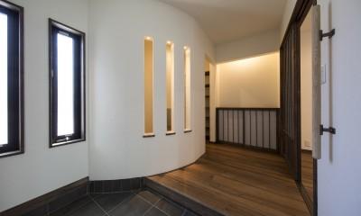 ご両親のためのコートハウス 「平屋+α」 (玄関ホール)