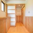 HUFUプラスワン/ローコストで建てる規格型の木の家の写真 玄関