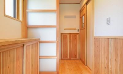 HUFUプラスワン/ローコストで建てる規格型の木の家 (玄関)
