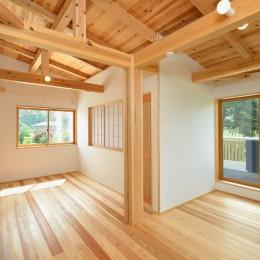 HUFUプラスワン/ローコストで建てる規格型の木の家 (二階のフリースペース)