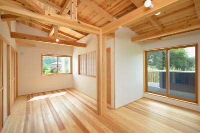 二階のフリースペース (HUFUプラスワン/ローコストで建てる規格型の木の家)
