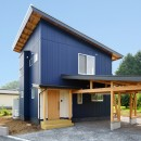 HUFUプラスワン/ローコストで建てる規格型の木の家の写真 木の構造体の車庫