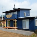 HUFUプラスワン/ローコストで建てる規格型の木の家の写真 南デッキ