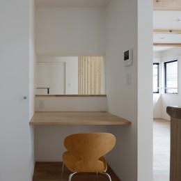 小規模デザイナーズアパートメント|三茶の集住 (キッチン脇のワークカウンター)