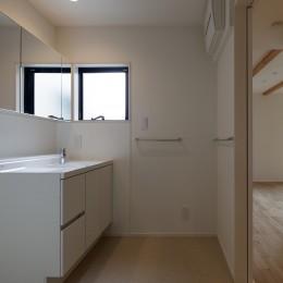 小規模デザイナーズアパートメント|三茶の集住 (洗面室)