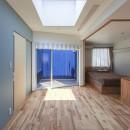 夕雲町の家-little forest-の写真 夕雲町の家 2階ホールと主寝室