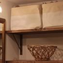 こだわりのインテリアがマッチするお家の写真 洗面
