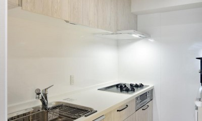 室内環境を整え、快適で広々としたリビングに (キッチン)