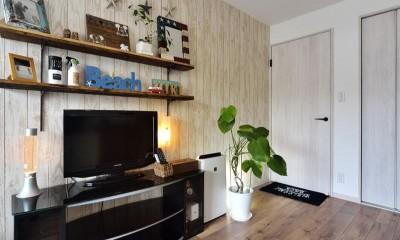 室内環境を整え、快適で広々としたリビングに (寝室)