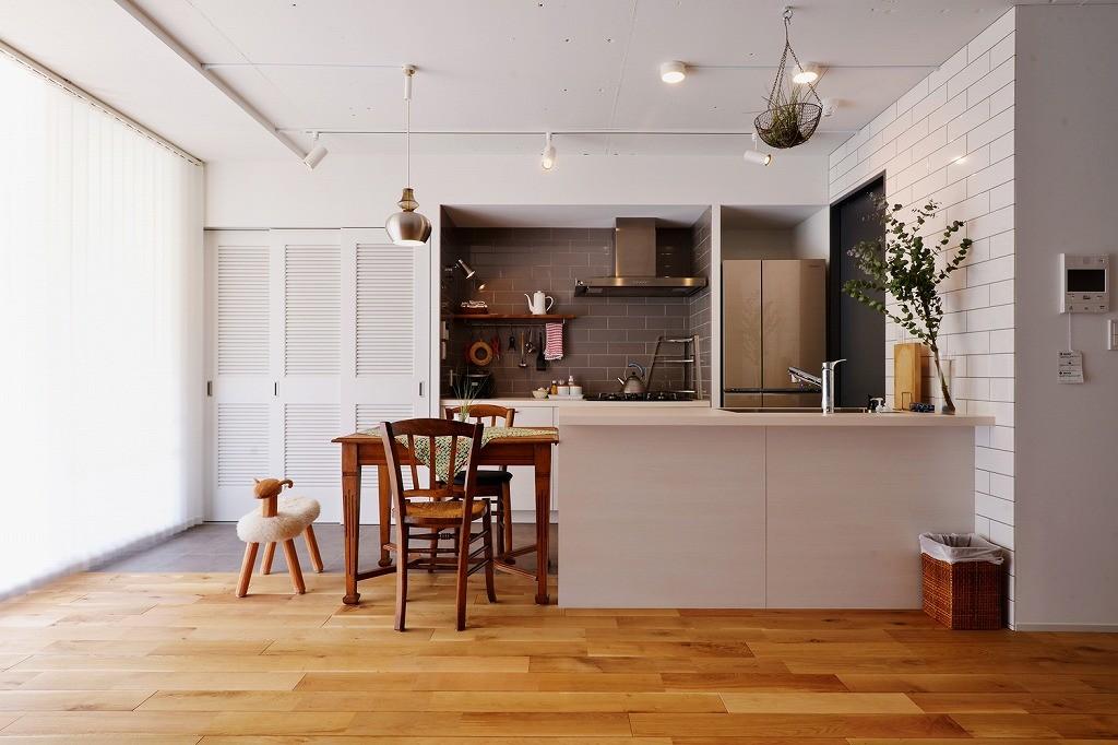 キッチン事例:キッチン(光と風の通り道)