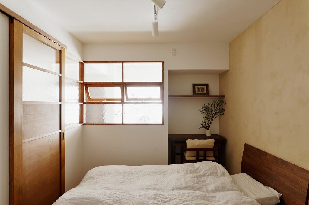 ベッドルーム事例:寝室(光と風の通り道)