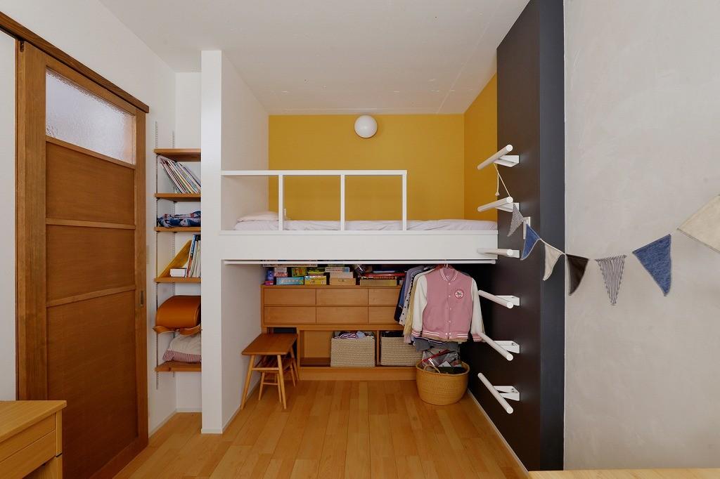 子供部屋事例:子ども部屋(光と風の通り道)
